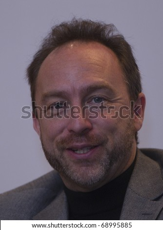 KUALA LUMPUR - SEPT 28: Founder of Wikipedia, Jimmy Wales speaks at a media conference at World Capital Market Symposium (WCMS) 2010 in Kuala Lumpur, Malaysia. September 28, 2010. - stock photo