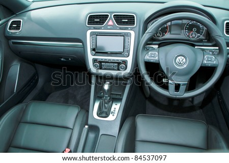 KUALA LUMPUR - SEPT 10:Interior of VW EOS at the Volkswagen Das Auto Show 2011 on SEPTEMBER 10 2011 in Kuala Lumpur, Malaysia. This event is a promotion for latest Volkswagen models - stock photo