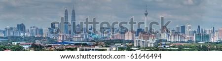 Kuala Lumpur skyline panoramic view - stock photo