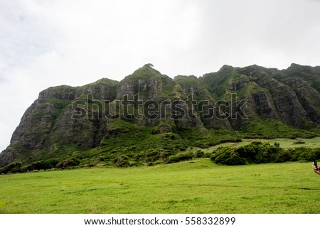 Kualoa Ranch in Oahu, Hawaii.