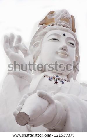 Kuan Yin, buddha of Chinese art. - stock photo