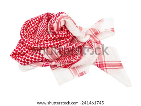 kufiya man's head scarf popular in the Arab countries - stock photo