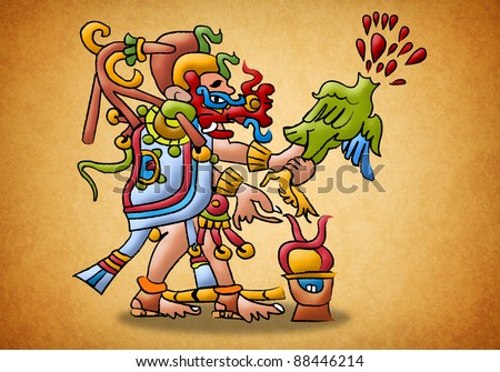 Kukulkan Mayan Deity - god - prophecy - stock photo