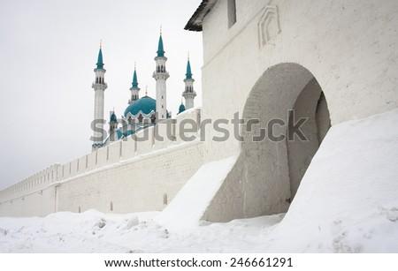 Kul Sharif mosque in Kazan Kremlin. Russia - stock photo