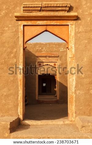Kuldhara ,abandoned city and it's ruins in Jaisalmer,Rajasthan,India.  - stock photo