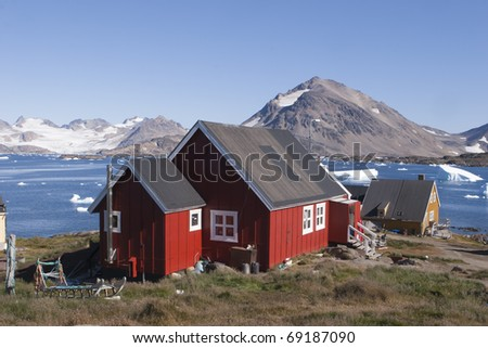 Kulusuk Island in Greenland - stock photo