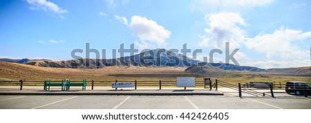 KUMAMOTO, JAPAN - NOV 11,2015: Highway in Mount ASO on  NOV 11,2015 in Kumamoto. Japan - stock photo