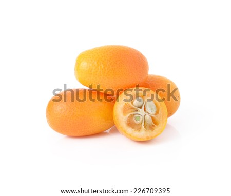 kumquat fruits isolated on white background