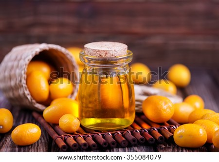 kumqwat oil - stock photo