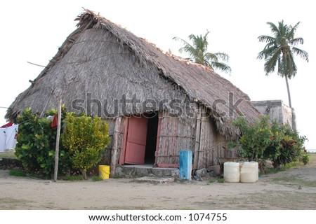kuna indian home panama - stock photo