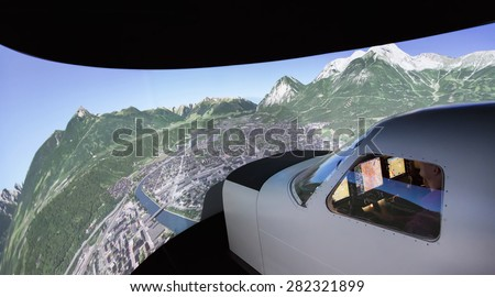KUNOVICE, CZECH REPUBLIC - MAY 15 2015. Piper Meridian flight simulator cockpit at Kunovice.