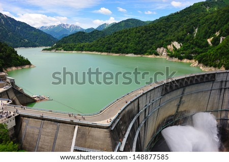 Kurobe Dam, Japan Alp, Japan - stock photo