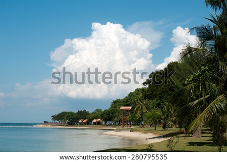 Kusu Island, in Singapore - stock photo