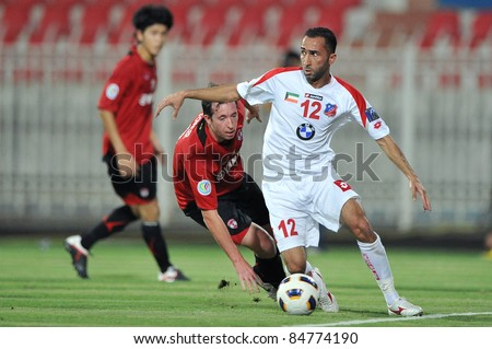 KUWAIT CITY, KUWAIT - SEPTEMBER 13: Robbie Fowler of Mtutd during in AFC Cup between Kuwait Fc(W) and Muang Thong UTD(R) on September 13, 2011 at Kuwait Sportclub Stadium in Kuwait City, Kuwait