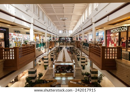 KUWAIT - DEC 7: Interior of the Souq Sharq shopping mall in Kuwait. December 7, 2014 in Kuwait City, Middle East