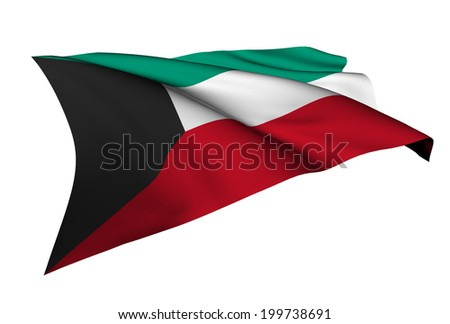 Kuwait flag - collection no_5  - stock photo