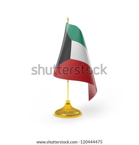 Kuwait Flag Detail Render - stock photo