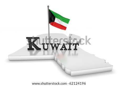 Kuwait Tribute/Digitally rendered scene with flag and typography