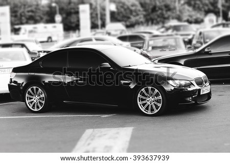 Kyiv, Ukraine - April 5th, 2014: BMW M3 E92 Black - stock photo