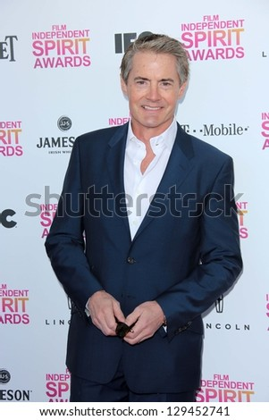 Kyle MacLachlan at the 2013 Film Independent Spirit Awards, Private Location, Santa Monica, CA 02-23-13 - stock photo