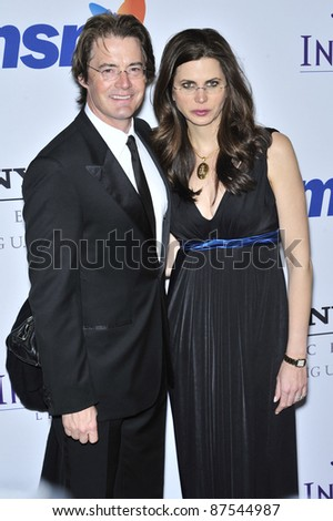 Kyle MacLachlan & Desiree Gruber at music mogul Clive Davis' annual pre-Grammy party at the Beverly Hilton Hotel. February 9, 2008  Los Angeles, CA Picture: Paul Smith / Featureflash
