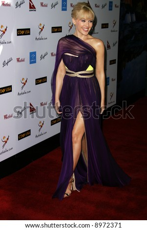KYLIE MINOGUE. The Australia Weeks G'Day USA Gala held at the Kodak Theatre in Hollywood - 19 January 2008. Compulsory Credit: Entertainment Press - stock photo