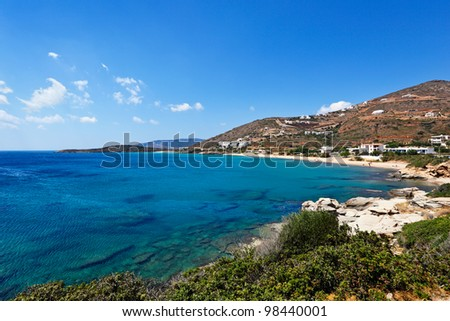 Kypri is a long beach in the west side of Andros, Greece