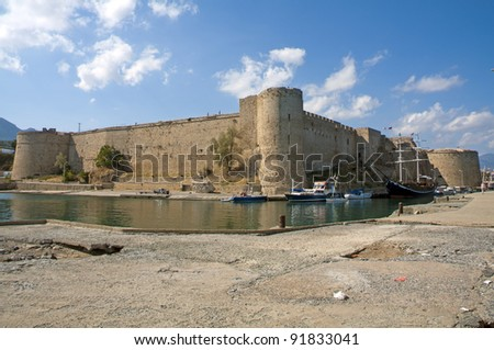 Kyrenia Castle in Northern Cyprus on a bright sunny day. Image by Kevin Hellon. - stock photo