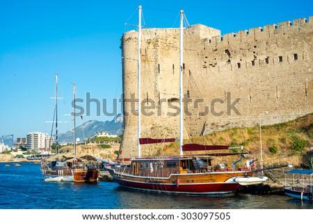Kyrenia Castle, North East Tower (Lusignan). Cyprus - stock photo