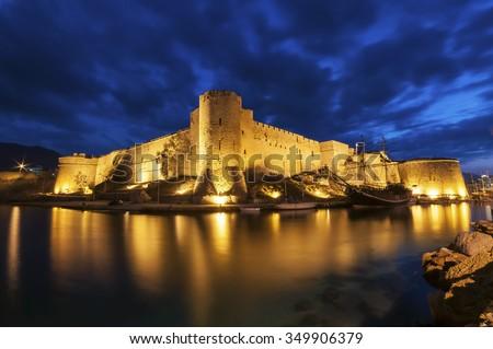Kyrenia ( Girne ) Castle, Northern Cyprus - stock photo