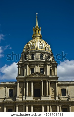 L'hotel National des Invalides in Paris, France - stock photo