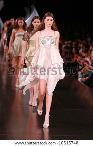 L'Oreal Melbourne Fashion Festival 2008 - Designer Aurelio Costarella - stock photo