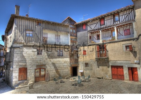 LA ALBERCA, SPAIN - AUGUST 15: In the 13th century the town of La Alberca was a clerk of the crown. The fiesta of Our Lady of the Assumption is held, full of on august 15, 2013 in Salamanca.