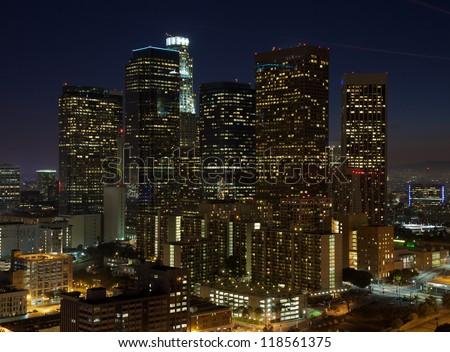 LA at Night - stock photo