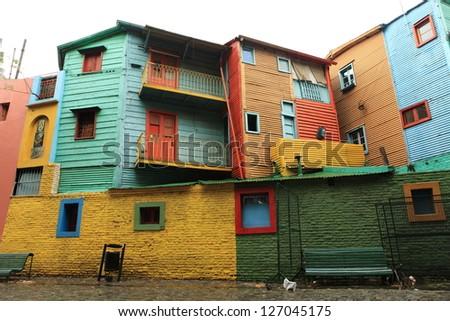 La Boca Buenos Aires - stock photo