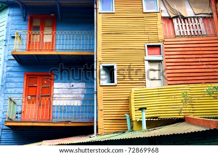 La boca in Buenos Aires - the first italian area of  buenos aires - stock photo