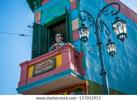 La Boca neigborhood, Buenos Aires, Argentina - stock photo
