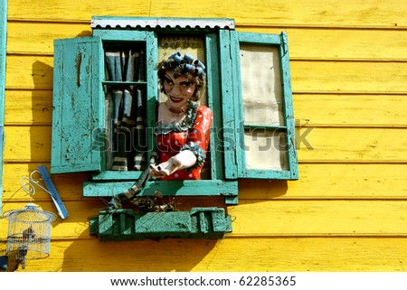 La Boca neigborhood in Buenos Aires, Argentina - stock photo