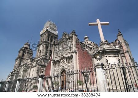 La Catedral, Mexico City - stock photo