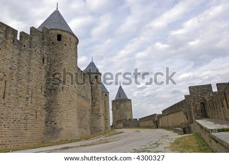La Cité de Carcassonne (France) - The walls of the ancient town
