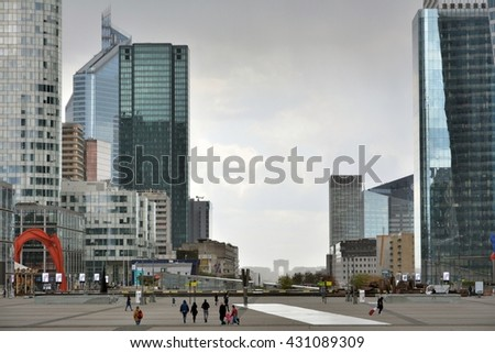 La Defense,the business center of Paris