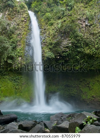 La Fortuna Waterfall located in El Arenal, Costa Rica - stock photo