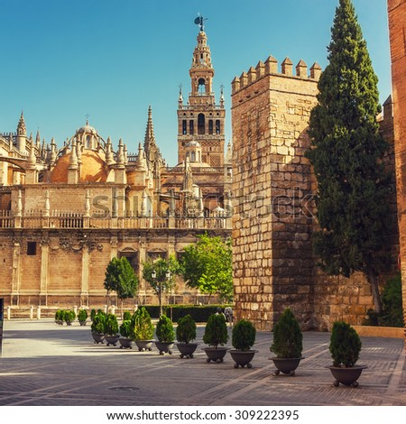 La Giralda in Sevilla, Spain - stock photo