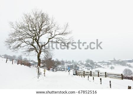 La Gleize, the Ardennes - stock photo