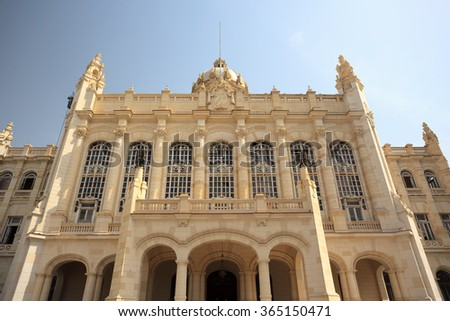 LA HABANA, CUBA - JULY, 4, 2015:  The museum is housed in what was the Presidential Palace of all Cuban presidents from Mario Garci­a Menocal to Fulgencio Batista