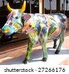 "LA JOLLA, CA - MARCH 21: Hollis Litrownik's ""Senorita Flora Fauna de Vaca"" is one of 50 life-sized fiberglass cows on display during La Jolla's Cow Parade that runs March 15-June 15, 2009. - stock"