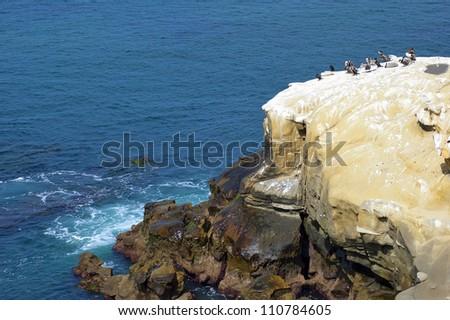La Jolla Cliff  Water View - stock photo