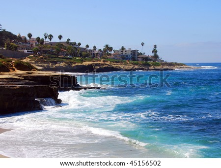 La Jolla cliffs - stock photo