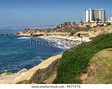 La Jolla Cove, San Diego, CA - stock photo