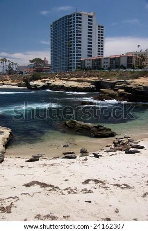 La Jolla Shoreline - stock photo